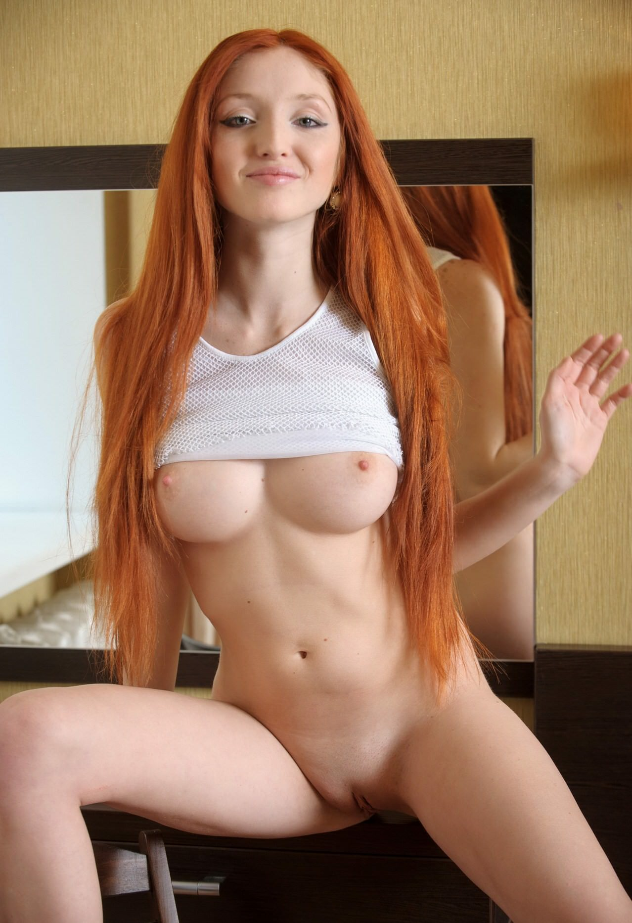 Young Pretty Sexy Ginger Girl High